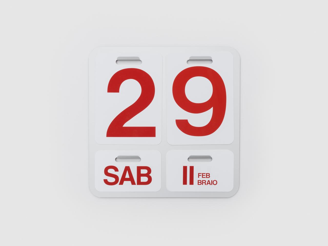 Calendario Enzo Mari.Danese